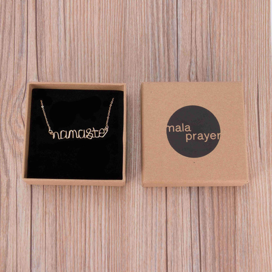Namaste Wire Necklace