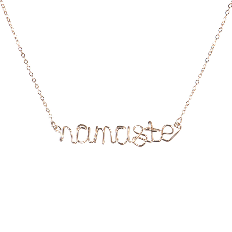 Namaste Wire Necklace Gold