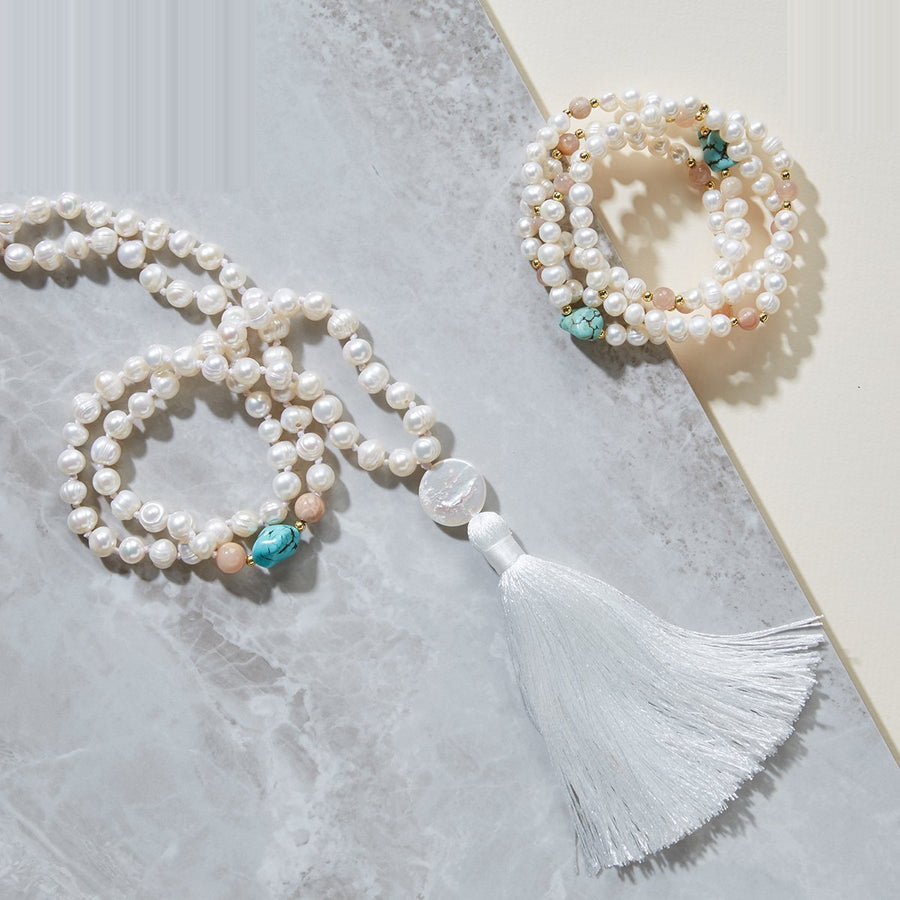 Contemplation Pearls Mala Necklace