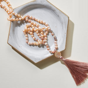 Moon Wisdom Pearls Mala Necklace