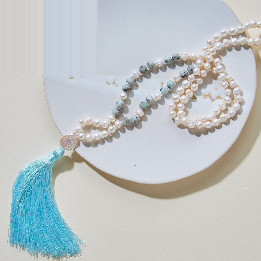 Wise Pearls Mala Necklace
