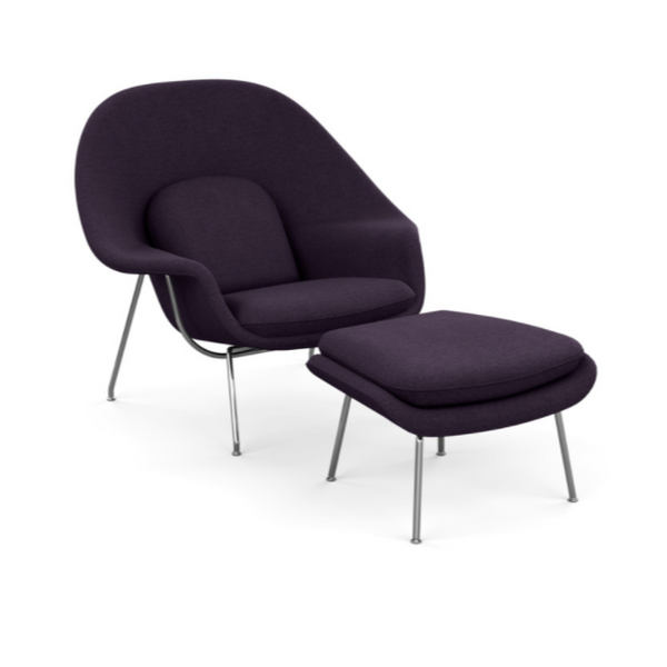 Womb™ Chair with Ottoman - 'Classic Boucle' Fabric