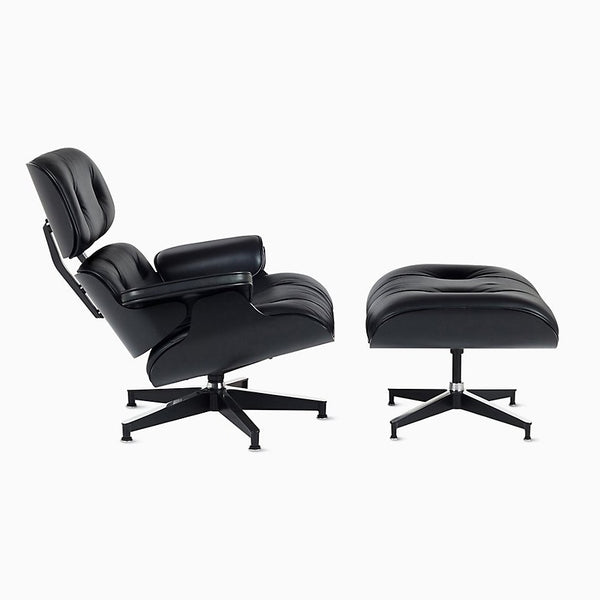 Eames® Lounge Chair and Ottoman Ebony