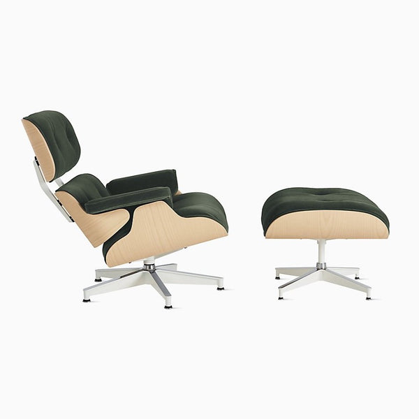 Eames® Lounge Chair and Ottoman White Ash
