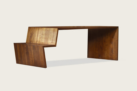 +Table | Dining Table with Integrated Bench