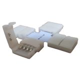LED Strip Connector (4 pcs) X-shape with Clip Coupling