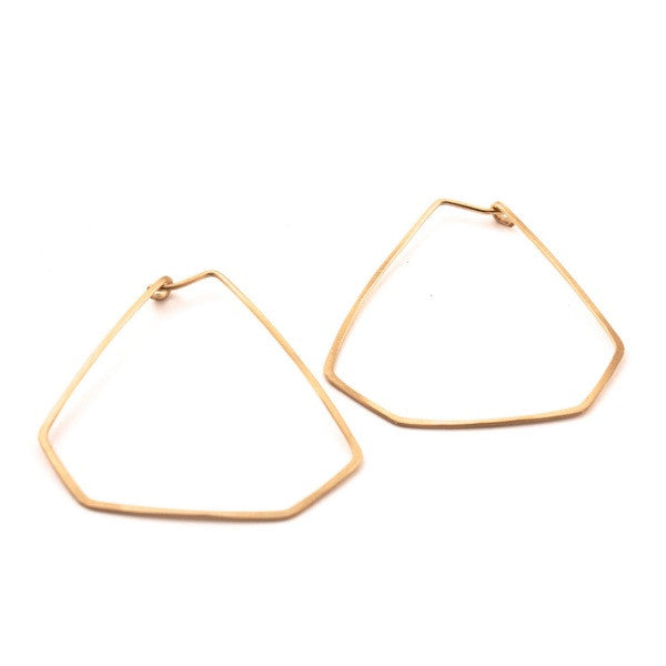 Gold Bent Wire Earrings (Med)