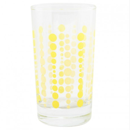 Party Glass - Yellow Dots