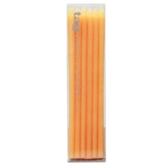 Tag Orange Party Candles Set/12