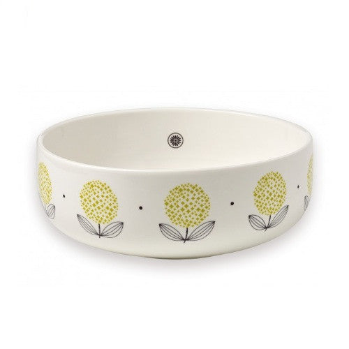 Yellow Flowers Salad Bowl