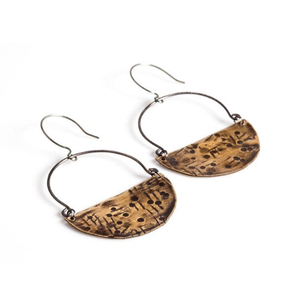 Emily Hammered Earrings
