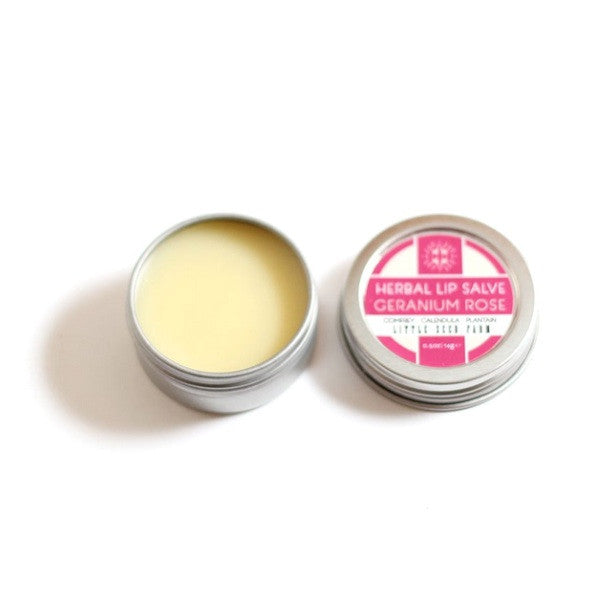 Little Seed Farm Herbal Lip Salve-Geranium Rose