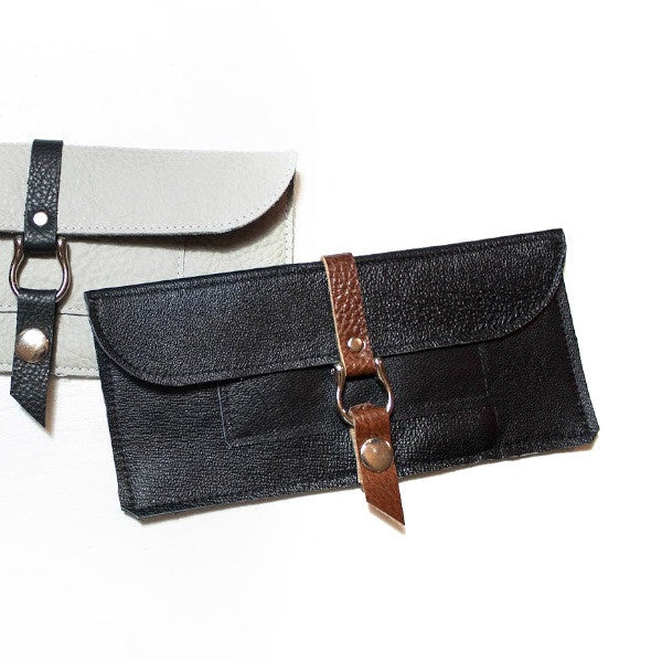 Leather Billfold Clutch