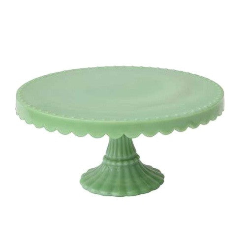 Milk Glass Jade Pedestal