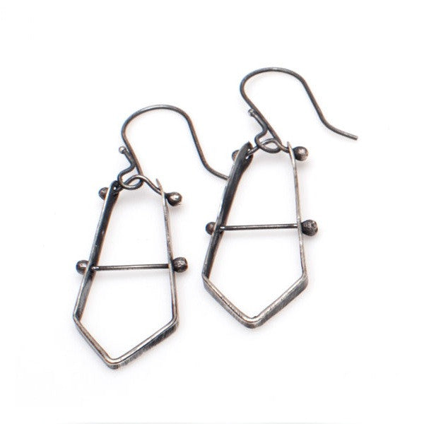 Kinzoku Earrings Hammered Silver