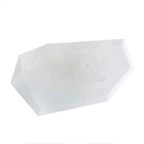 Faceted Marble Serving Board