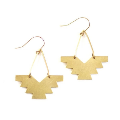 Geometric Pheonix Earrings