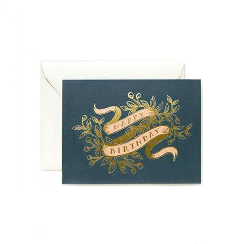 Rifle Paper Co. Foil Banner Birthday Card