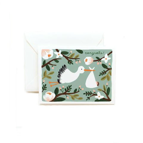 Rifle Paper Co. Congrats Stork Card