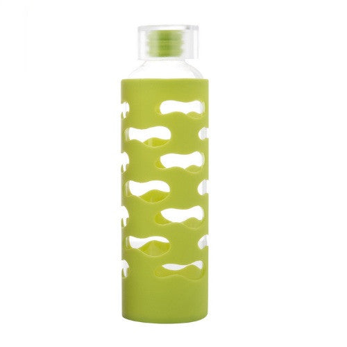 Glass Bottle with Silicone Sleeve - Lime