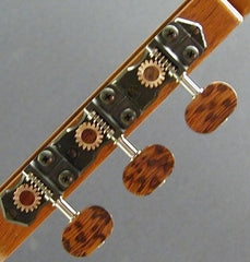 Traditional Black with Snakewood Knob and Snakewood Dot