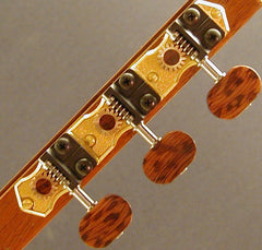 Traditional Gold with Snakewood Knob and Snakewood Dot