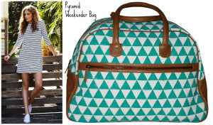 http://stephanietrow.tumblr.com  http://www.rtfairtrade.com/products/pyramid-weekender-bag