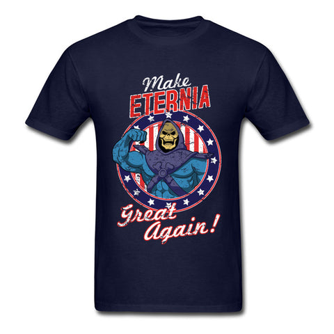 Make Eternia Great Again T-shirt Men Skull T Shirt Comics Cartoon Clothing Summer Printed Tshirt Custom 80s Own Tops