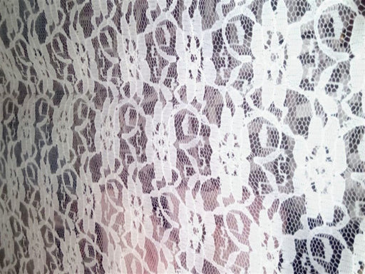 White Flower Cotton Net Fabric (25 Meters)