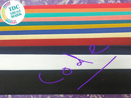 Set of Colours Plain Code Twill Fabric (50 Meters)