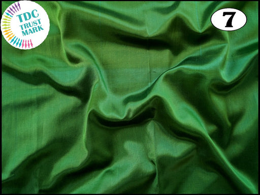 Green Plain Mashru Silk Fabric (50 Metres)