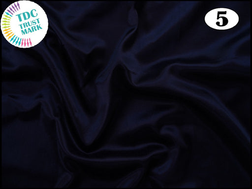 Navy Blue Plain Mashru Silk Fabric (50 Metres)