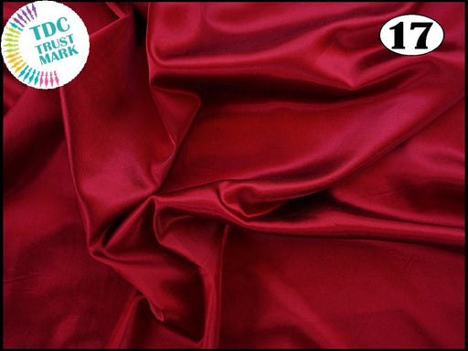 Dark Red Plain Mashru Silk Fabric (50 Metres)