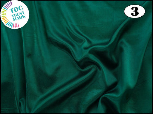 Dark Green 1 Plain Mashru Silk Fabric (50 Metres)