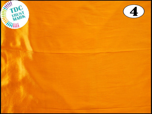 Yellow Plain Mashru Silk Fabric (50 Metres)