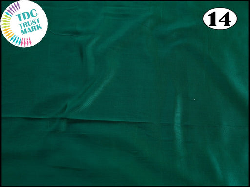 Dark Green Plain Mashru Silk Fabric (50 Metres)