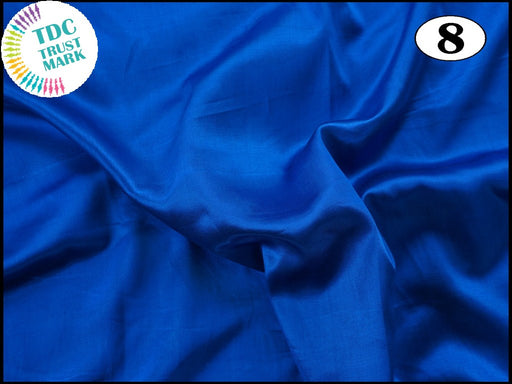 Blue Plain Mashru Silk Fabric (50 Metres)