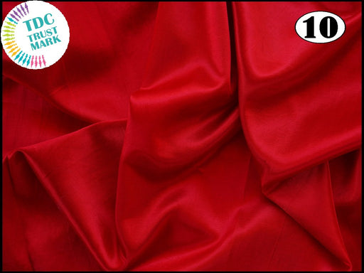 Red Plain Mashru Silk Fabric (50 Metres)
