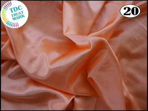 Peach Plain Mashru Silk Fabric (50 Metres)
