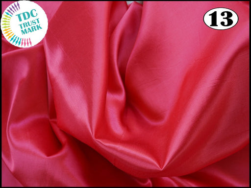 Red Pink Plain Mashru Silk Fabric (50 Metres)