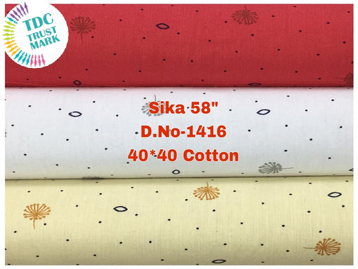 Set of Red White and Off-White Polka Dots Design Poplin Fabric (50 Meters)