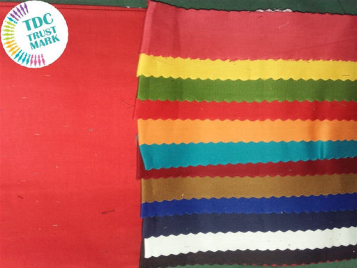 Set of 6 Colour Plain Twill Fabric