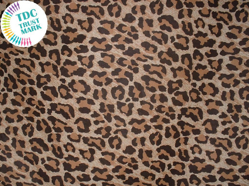 Dark Brown Animal Print Poly Crepe Fabric (25 Metres)
