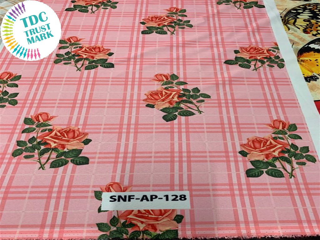 Light Pink Floral Polyester Fabric (200 Meters)