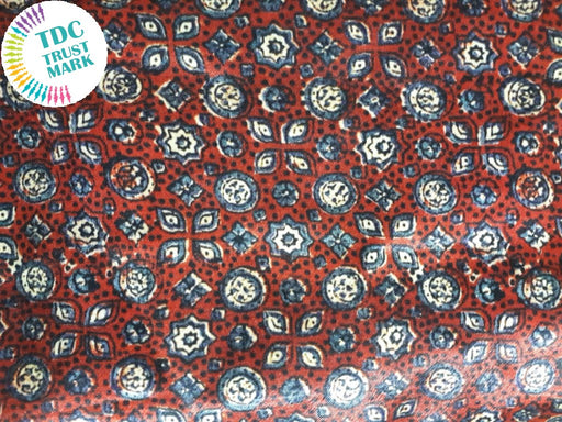 Orange Geometric Design Cotton Fabric (20 Metres Each)