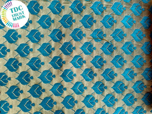 Silver and Light Blue Jaipuria Jacquard Fabric (70 Meters)