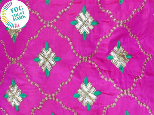 Pink Argyle Design Paper Silk Fabric (20 Metres)