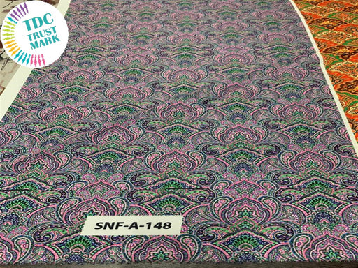 Purple and Green Polyester Fabric (200 Meters)
