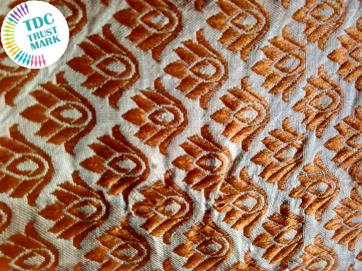 Silver and Brown Jaipuria Jacquard Fabric (70 Meters)
