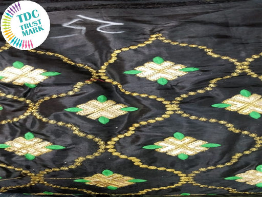 Black Argyle Design Paper Silk Fabric (20 Metres)